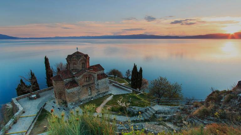 Sveti (Saint) Jovan Kaneo Church, Lake Ohrid, Macedonia