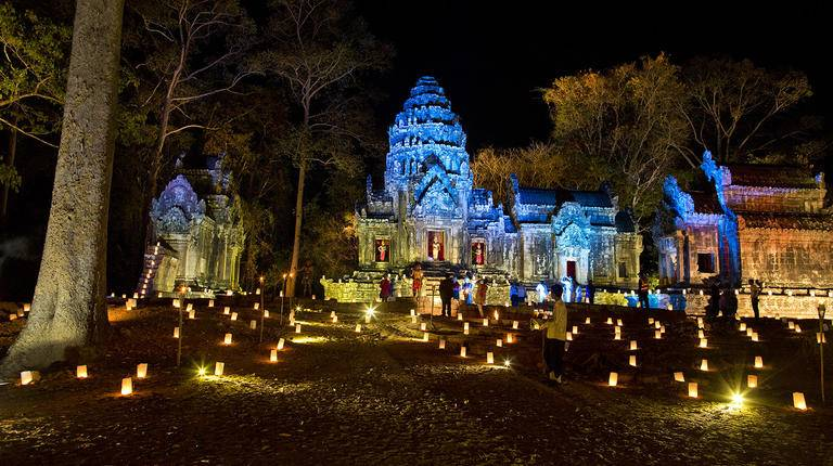 Evening Gala Dinner in ancient Angkor Wat Temple