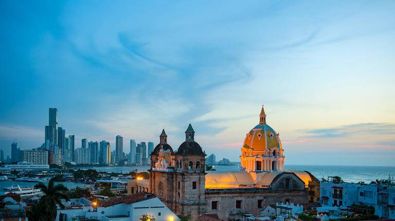 evening view of Cartagena