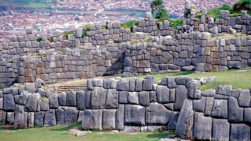 Stone walls built by the Inca in Cusco, Peru