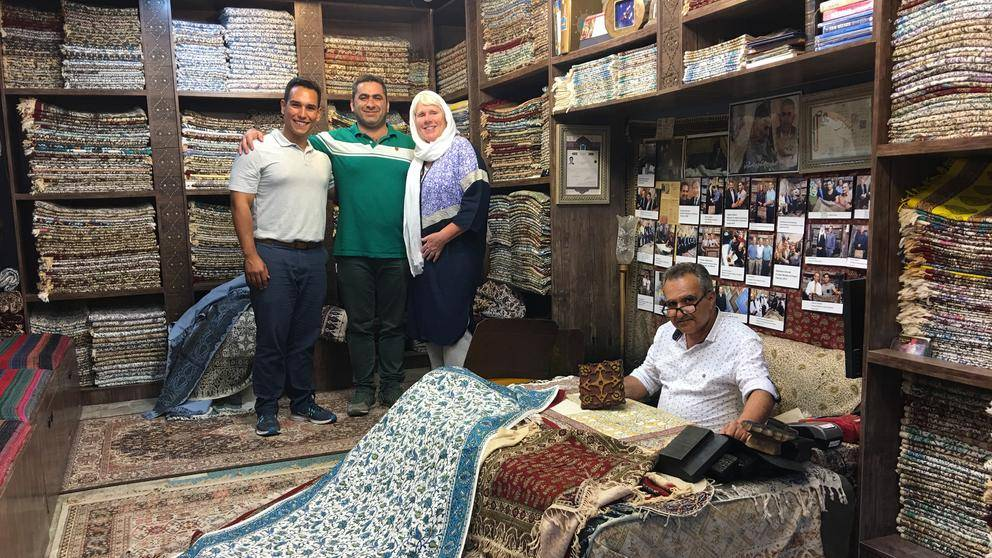 Rug shopping, Isfahan, Iran