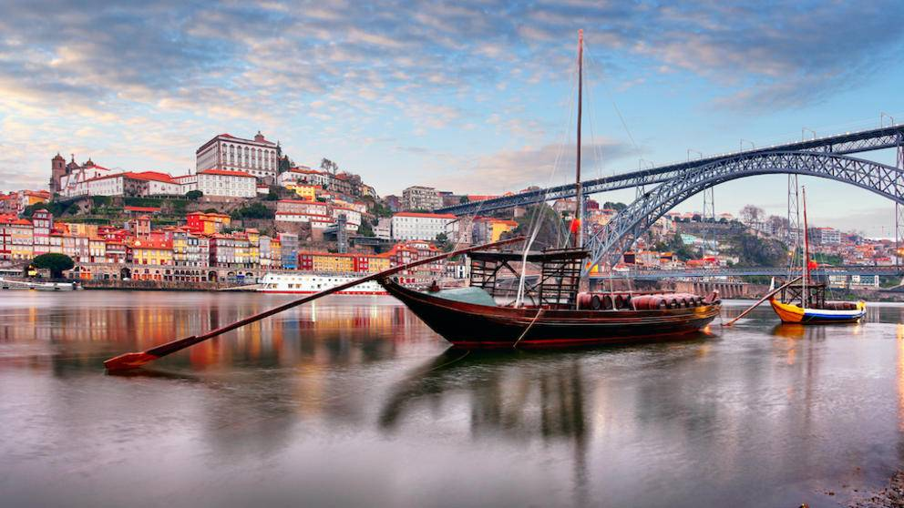 Cityscape of Porto old town, Portugal.